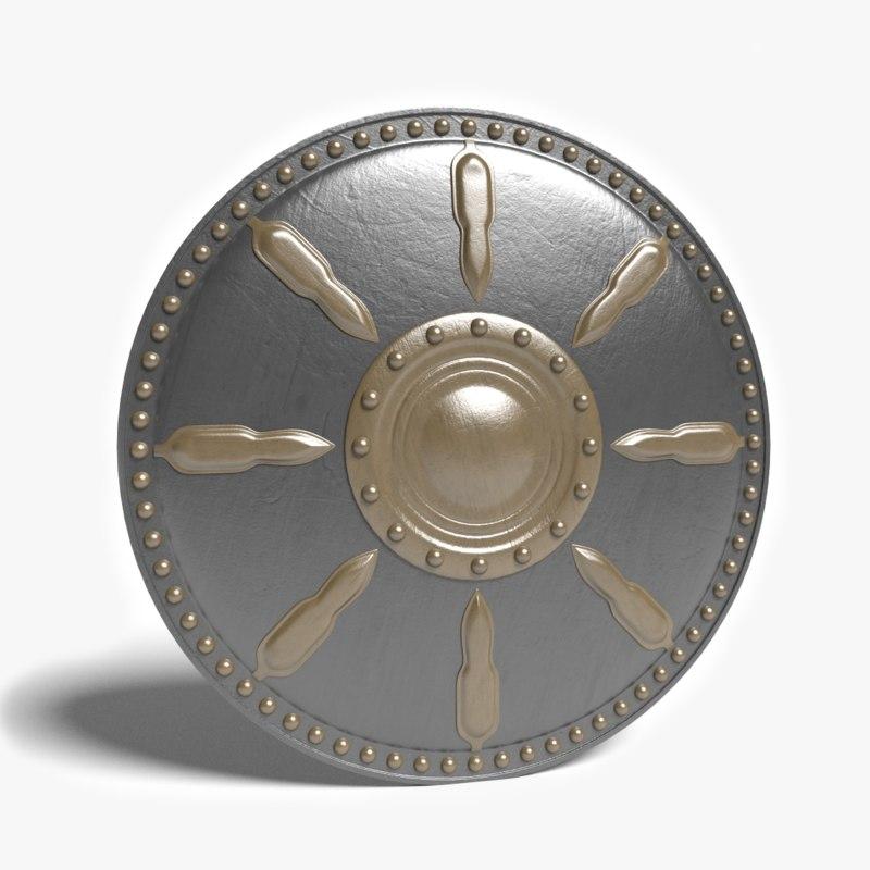 3d model gladiator shield