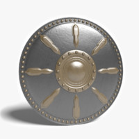 3d model gladiator shield