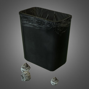 3d trashcan trash model