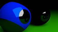 blender pool balls