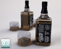 3d model of jack daniels whiskey