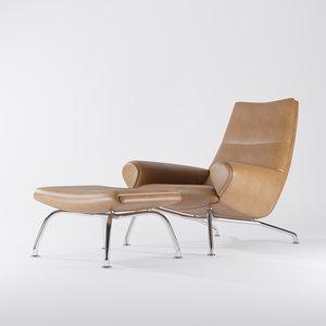 wegner chair erik jorgensen 3d model
