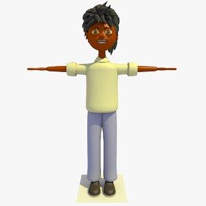 3d 3ds kenny cartoon boy character