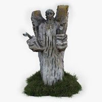 angel sculpture obj