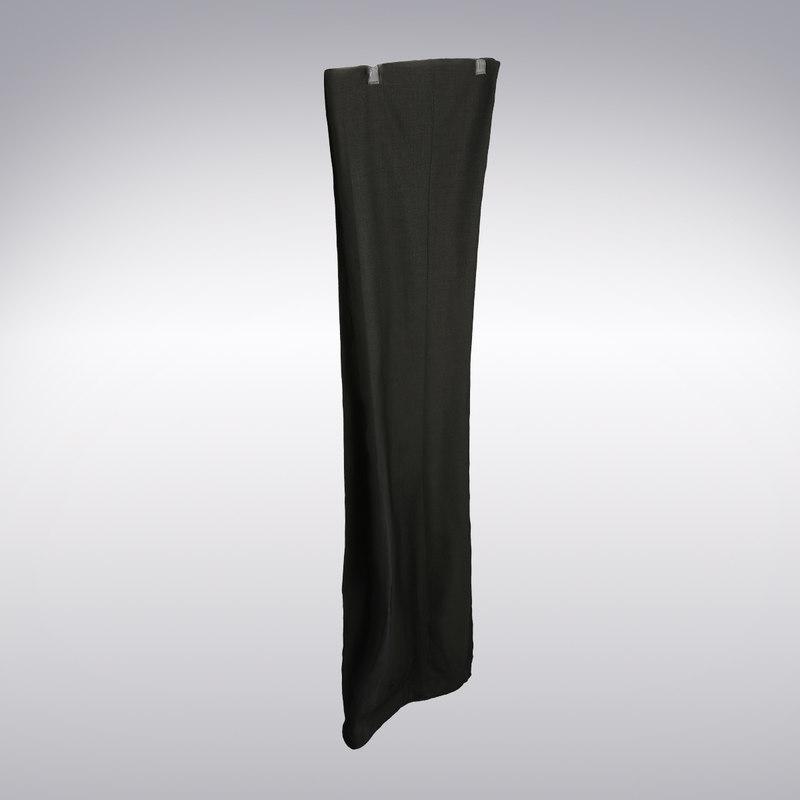 trousers scanning 3d model