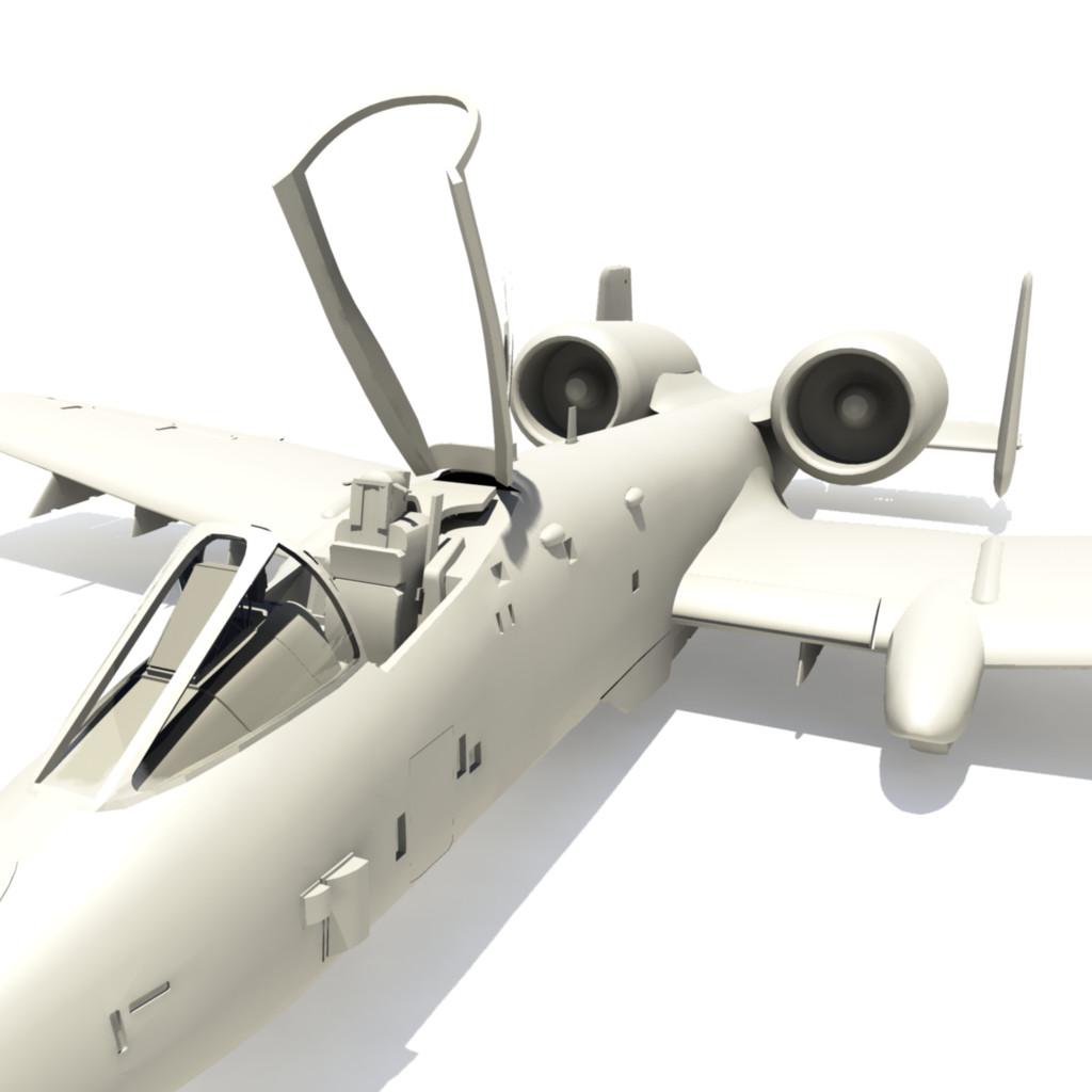 ready a-10 tankbuster 3d ma