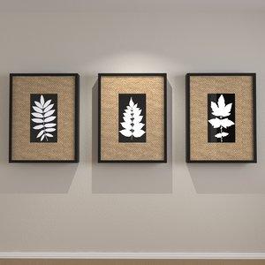 framed art burlap matte 3d max