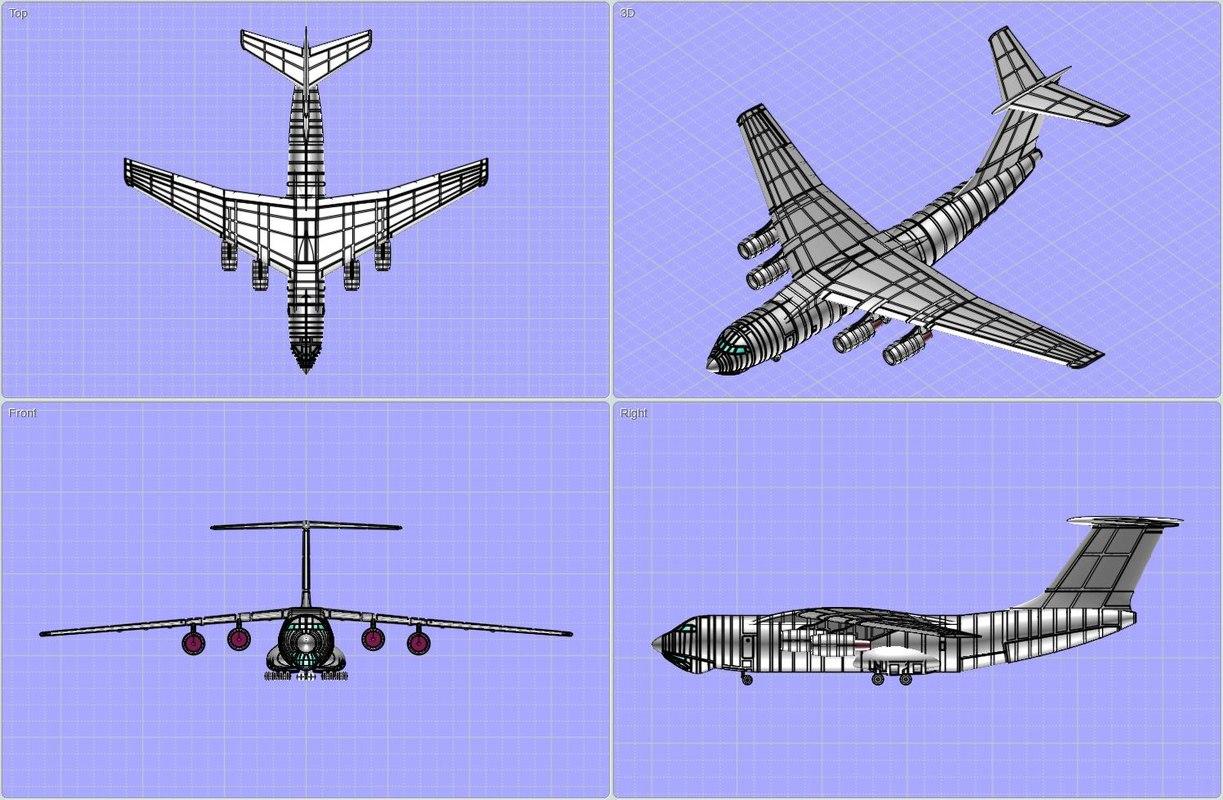 3d ilyushin il-476 strategic transport