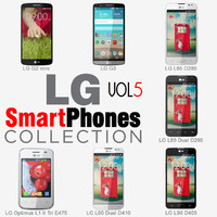3d model lg smartphones v5 phones