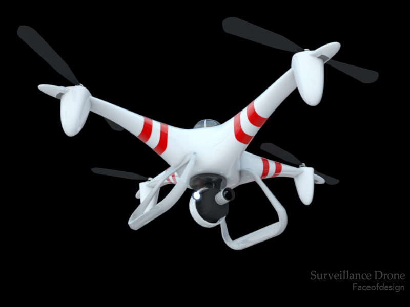 3d model surveillance drone