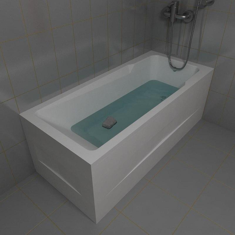 3d model tub kolpa armida 180x80