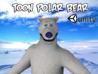 toon polar bear unity fbx