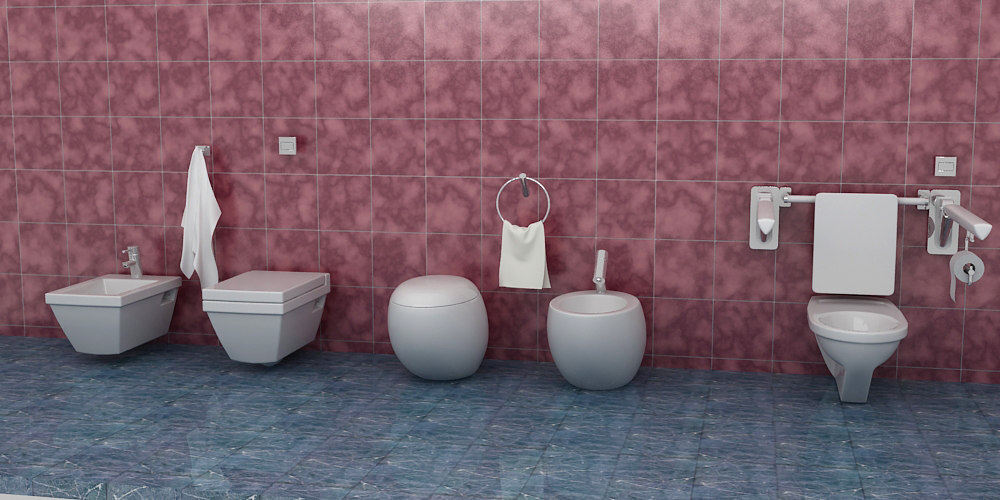 bathroom fixture 3d max