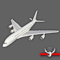 3d model minimal a380 aircraft