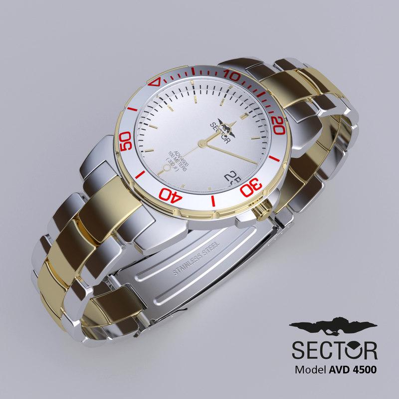 watch sector avd 4500 3d model