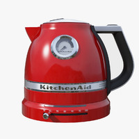 realistic electric kettle 3d model