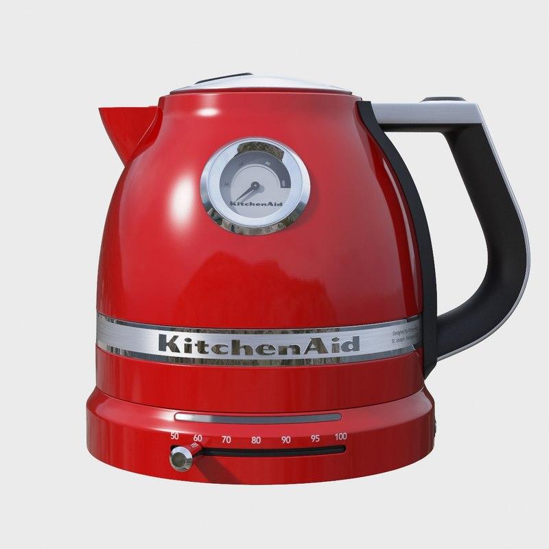 realistic electric kettle 3d model