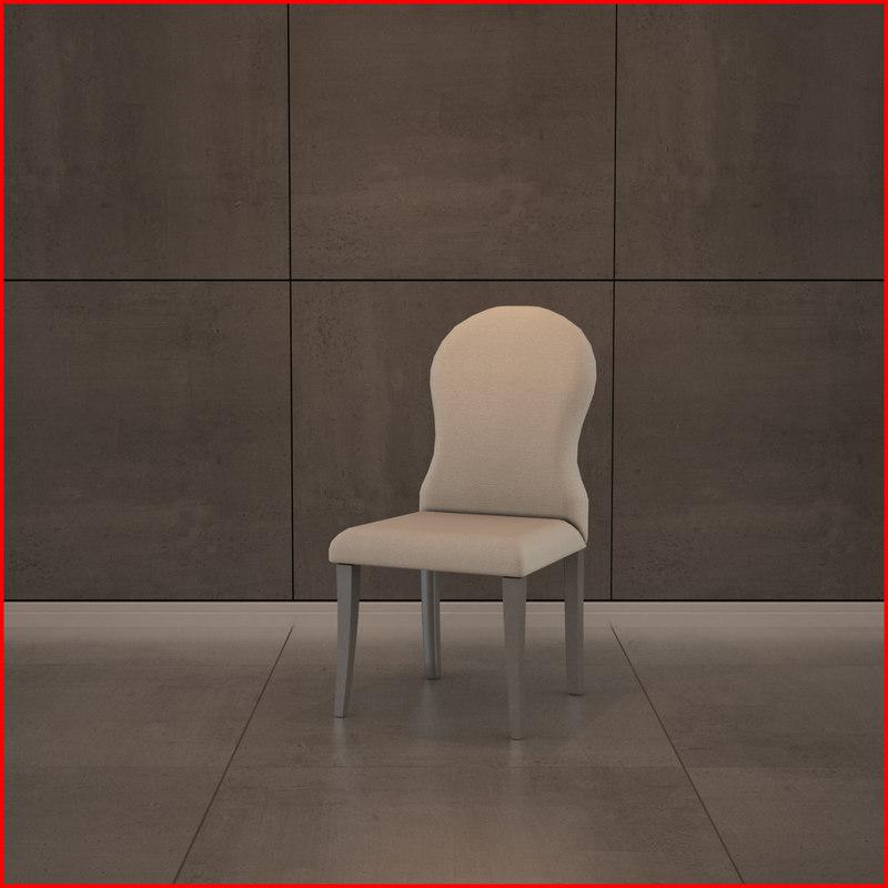 nice chair materials 3d obj