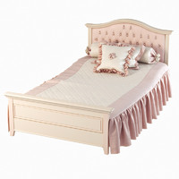 3d model girls bed ferretti