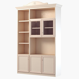 3d model of bookcase ferretti