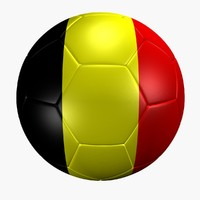 3d model soccer ball belgium flag