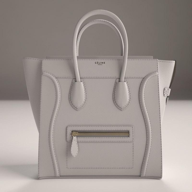 3d luxury handbag model