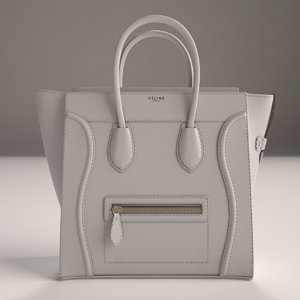 3d luxury handbag model
