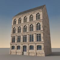 3d european building europe model