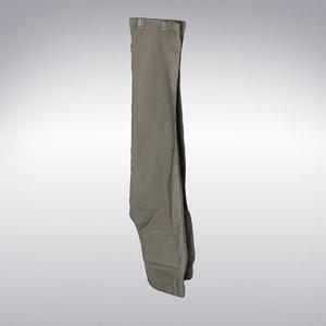3d corduroy pants scanning model