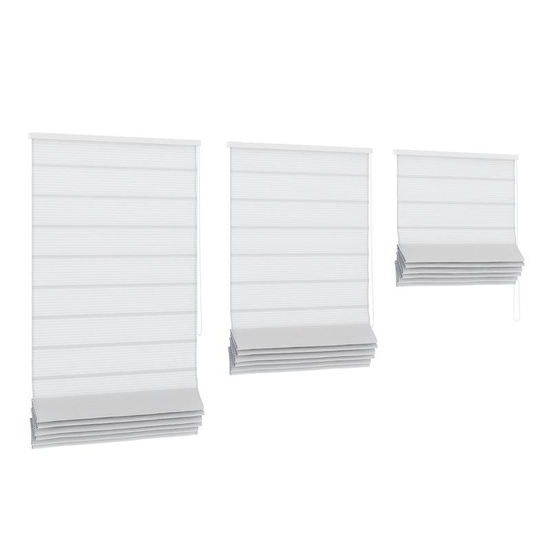 white roman window blinds 3d model