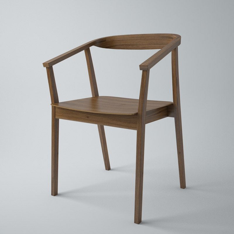 Dining Chair Ikea: Ikea Stockholm Dining Chair 3d Max