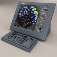 3d model furuno ship radar
