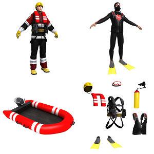 3d rescue pack model