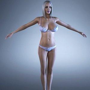 3d female body