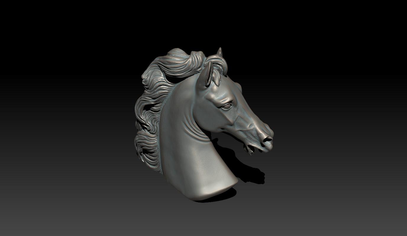 3d c4d italian horse
