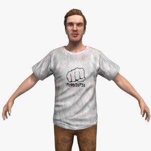 rigged character 3d max