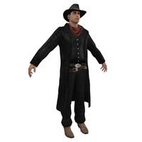 wild west cowboy 3d model