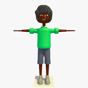 3ds james cartoon boy character