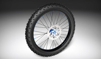 3d model mountain bike wheel