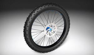 3d model mountain bike wheel
