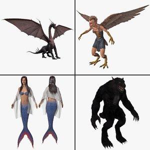 mythological creature obj