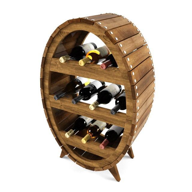 3ds max wine shelf