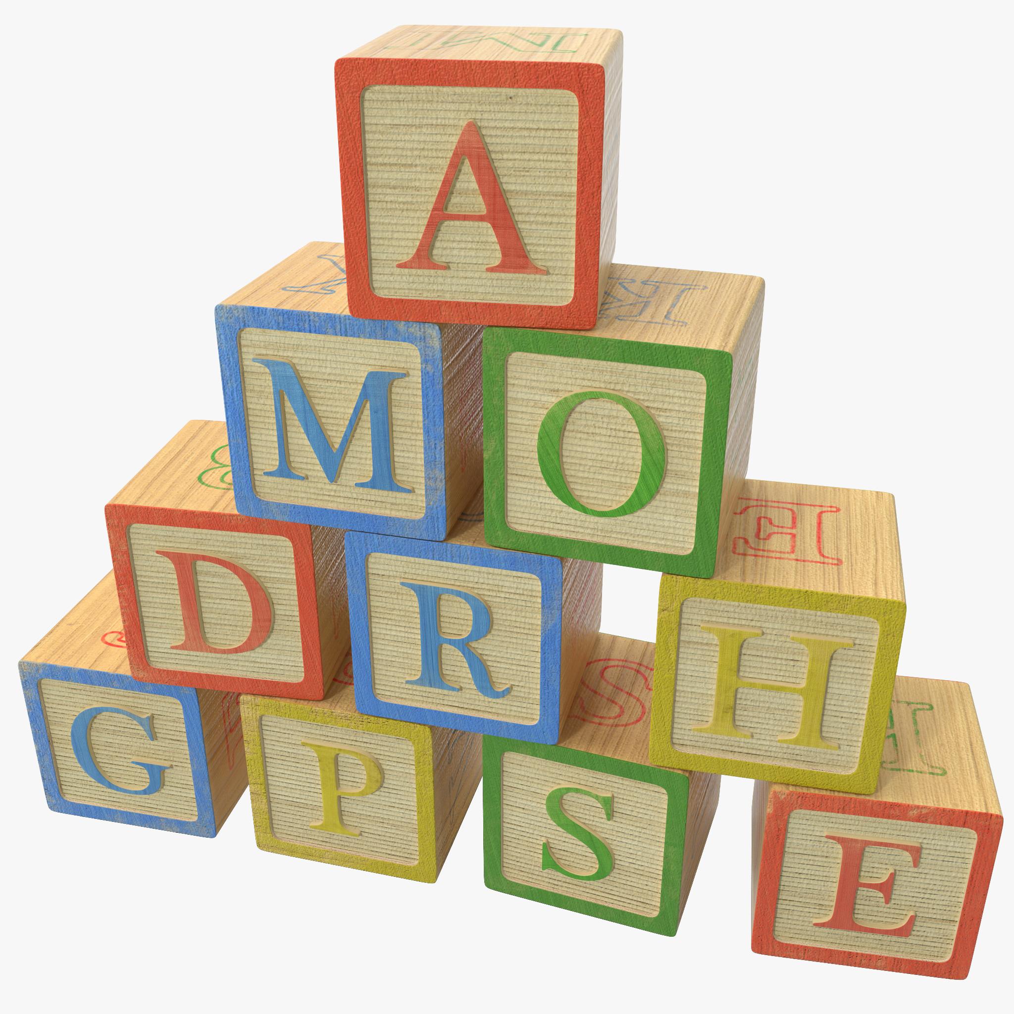 alphabet blocks max