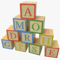 alphabet blocks max