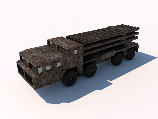3d model bm-30 smerch artillery