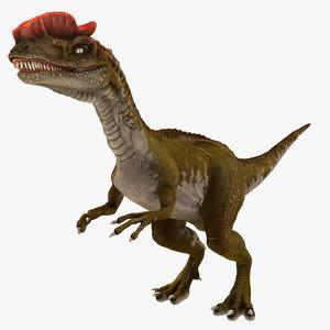 dilophosaurus rigged 3d max