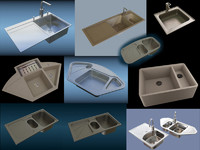 3ds max kitchen sinks