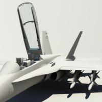 f-18 fighter 3d fbx