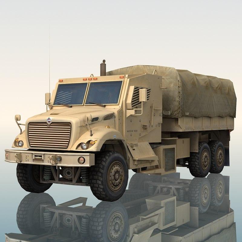 3d navistar 7000 mv 6x6 model