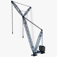lampson construction crane 3d model